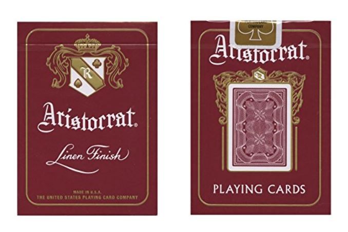 jeu de cartes aristocrat lien finish rouge